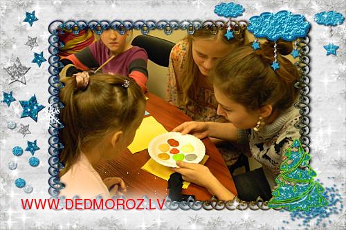 Детские творческие мастерские – подготовка материалов для подарков.
