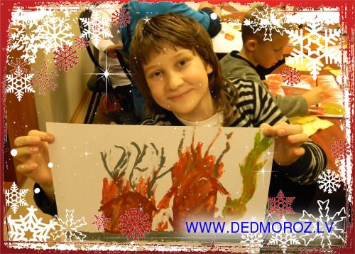 Готов еще один рисунок для Деда Мороза.