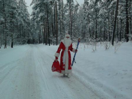 Фото. Заснеженный лес, где Дед Мороз живет! Какой настоящий Дед Мороз?